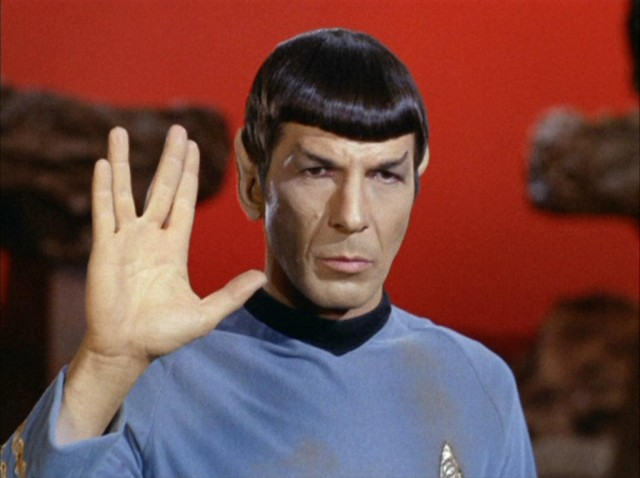 Where did Spock get his Vulcan hand sign?