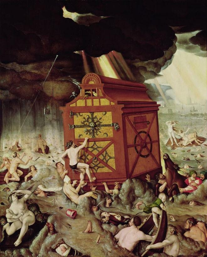 noah's ark.Baldung_Hans_-_Die_Sintflut_-_1516