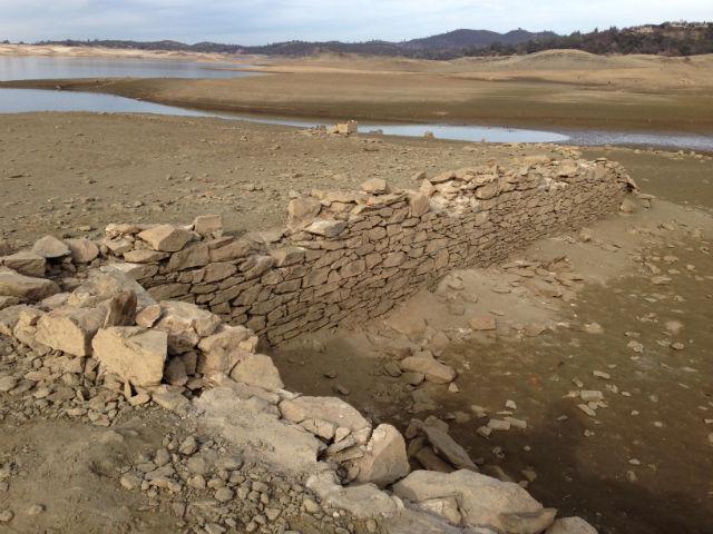 Mormon Island gold rush ruins