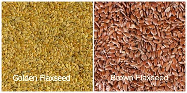 Golden flaxseed vs brown flaxseed