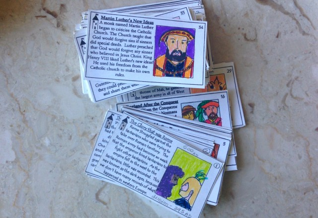 The Story of the World cards
