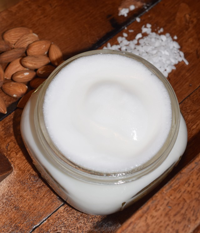 homemade lotion with water and oil