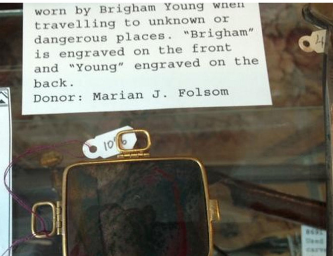 Brigham Young's bloodstone