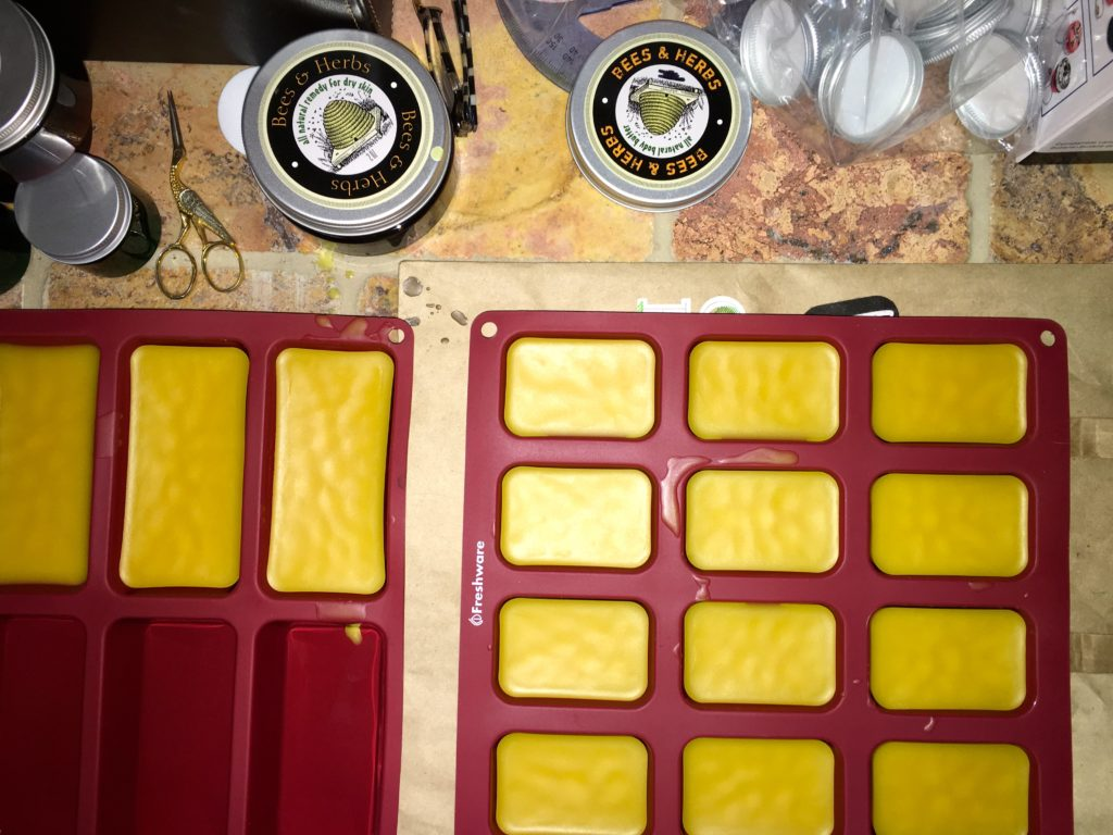 beeswax in silicone molds