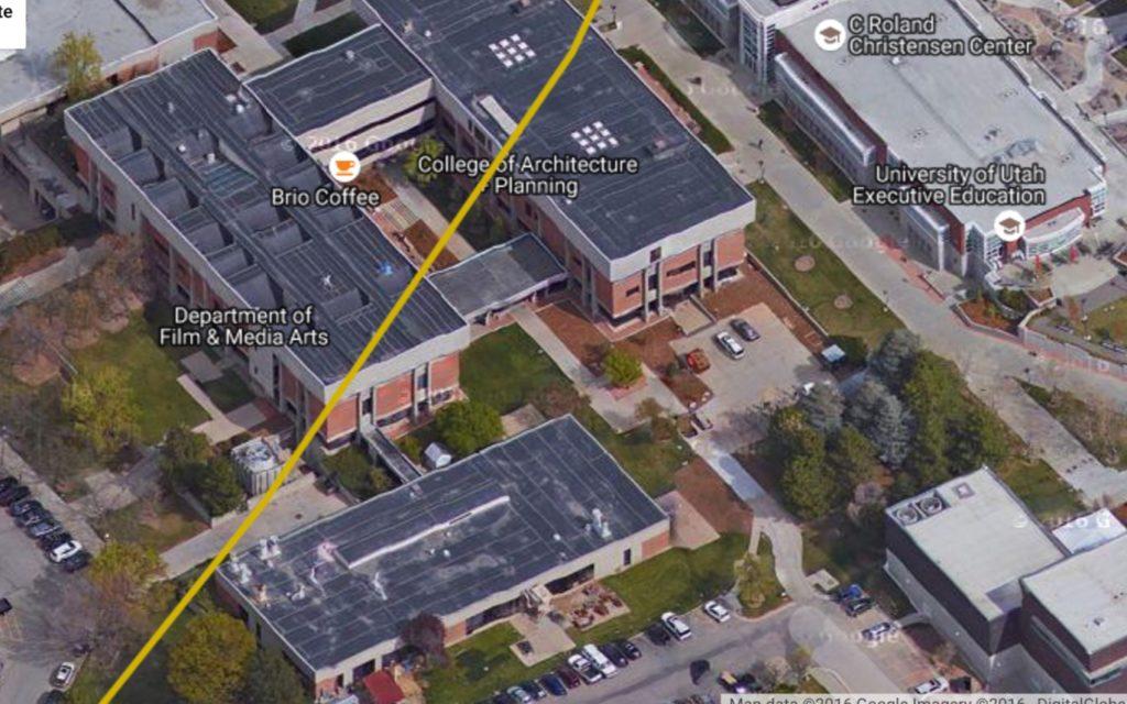 earthquake fault at university of utah