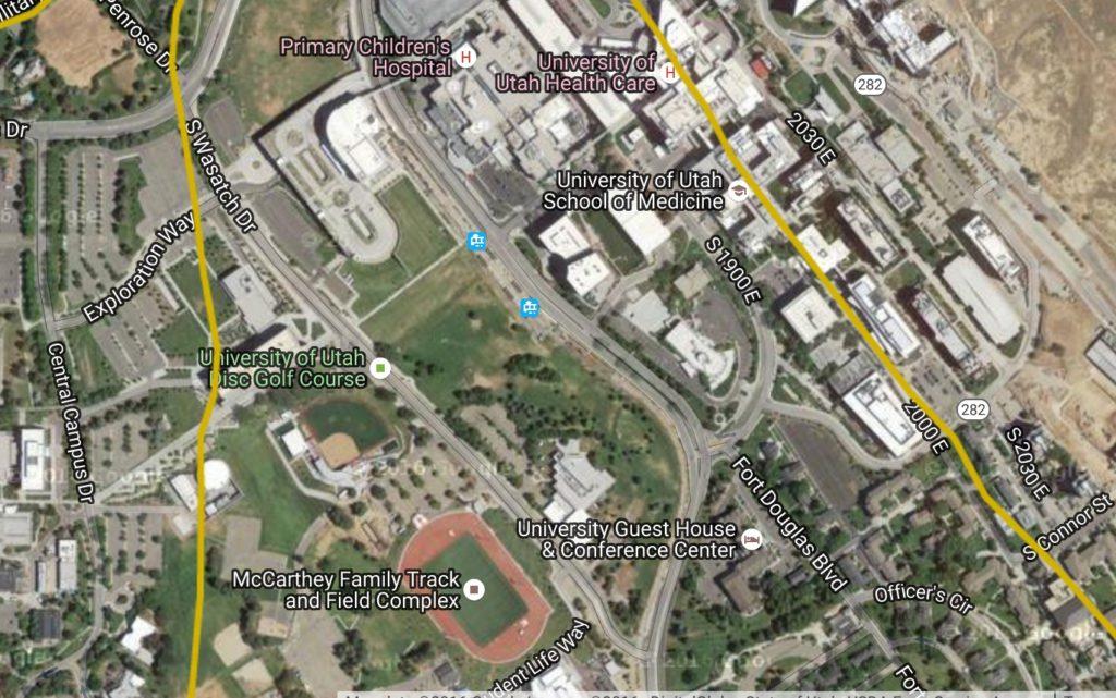 University of Utah Earthquake faults