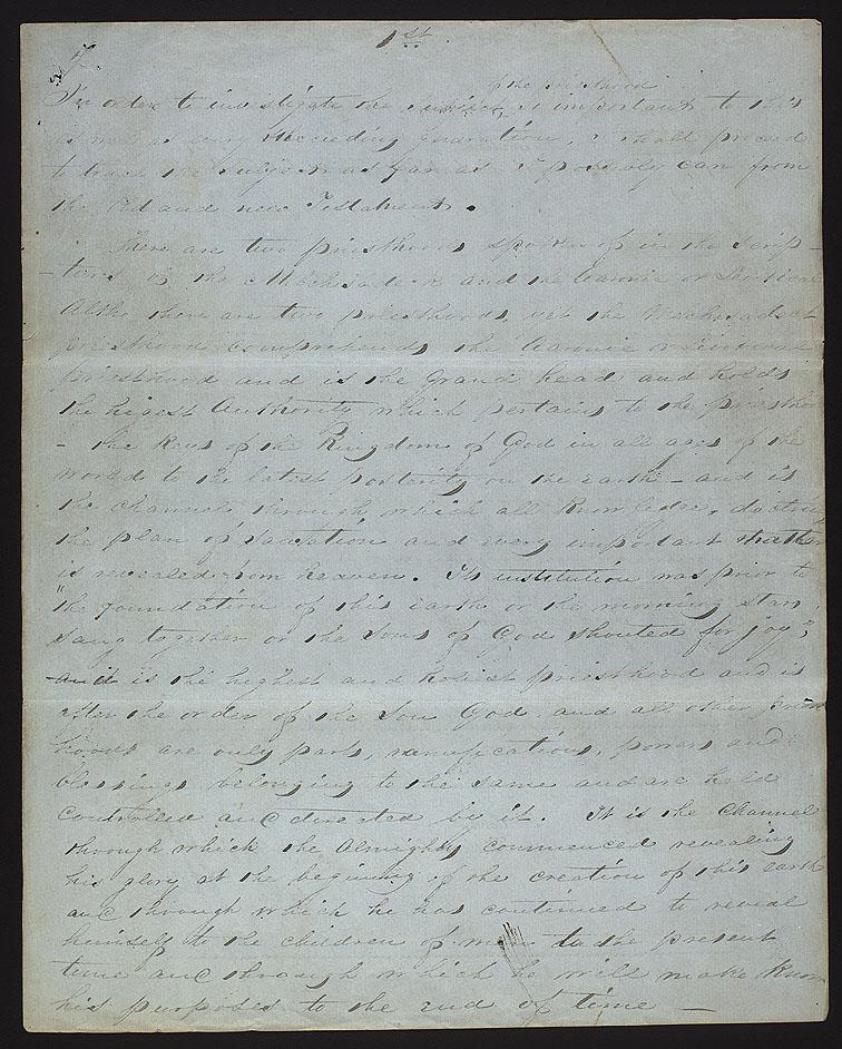 Treatise on Priesthood by Joseph Smith