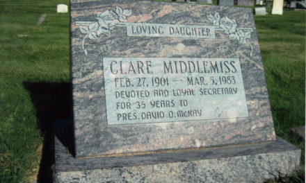Clare Middlemiss, only woman private secretary