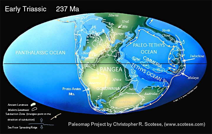 early triassic world